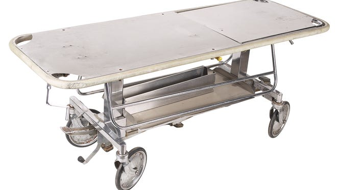 Police and funeral directors in Gainesville have a mystery on their hands: Someone is breaking into hearses and stealing the stretchers used to carry deceased people.