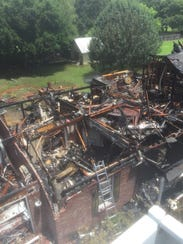Lightning was determined to be the cause of a house