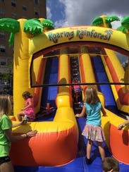 Bounce houses will be open to children at the Oct.