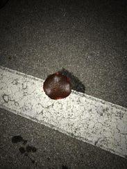 Vandals left slices of bologna at the scene after vandalizing