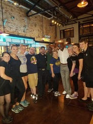 Donald Driver poses for a photo in the Tap Room of