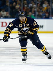 Buffalo Sabres right wing Brian Gionta (12) during
