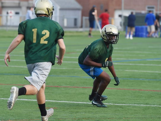 FDR's Justin Martin, right, pictured during Thursday's