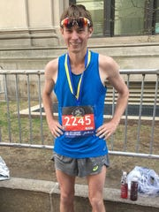 Ryan Munro, after finishing the 2017 Boston Marathon