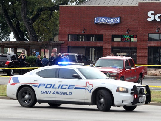 San Angelo emergency crew respond to a scene of a shooting
