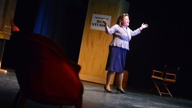 "Nancy Houseknecht sings ""The Man That Got Away"" from ""A Star is Born"" during a dress rehearsal at the nTelos Theatre on Wednesday, March 27, 2013. ShenanArts will present ""That's Entertainment"" on April 5 and 6."