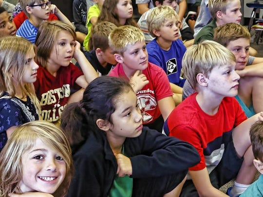Fifth-graders at Pierce Elementary School learned about
