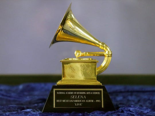 "GABE HERNANDEZ/CALLER-TIMES Selena Quintanilla Perez's Grammy Award for ""Live"" is displayed at the Selena Museum. During the acceptance speech she thanked many, including her family, her band and her record label. ""Thank you for having faith in me. I love you,"" she said."