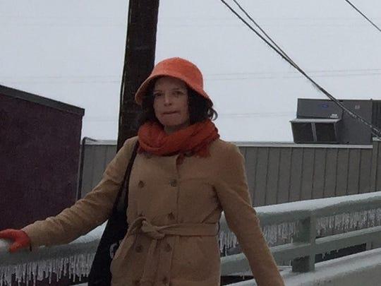 Rebecca Hinde, of New York, visited Nashville and ventured