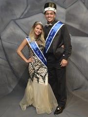St. Georges prom king and queen Jayson Williams and Heather Miller.