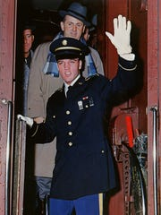 When Elvis Presley returned to the U.S. after serving