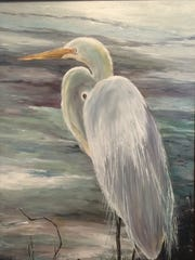 """Kayes Egret"" by Debra Brienen will also be exhibited in ""Still Side by Side""."
