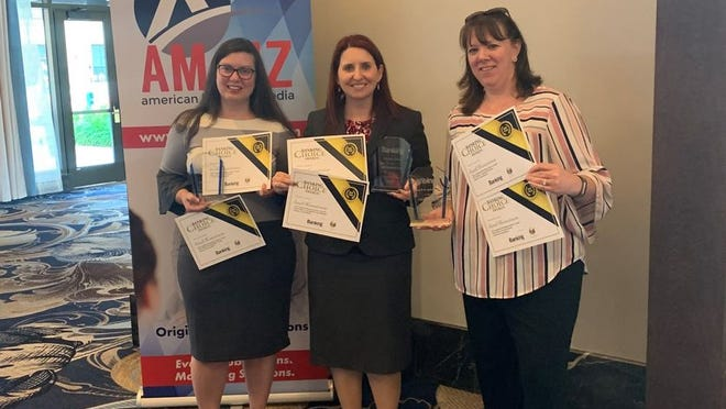 From left, Maria Thomas, assistant vice president, branch officer, Thompson, Connecticut; Michelle Kile, senior vice president, retail banking; and Jennifer McKenna, branch manager, Brooklyn, Connecticut.