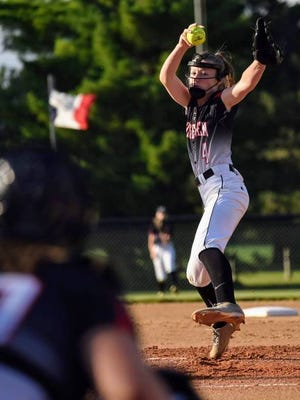 Sophomore Madison Geise gives the Roland-Story softball team a reliable weapon on the mound as the Norse look to contend for the Heart of Iowa Conference title in 2020. File photo by Joe Randleman/Ames Tribune.