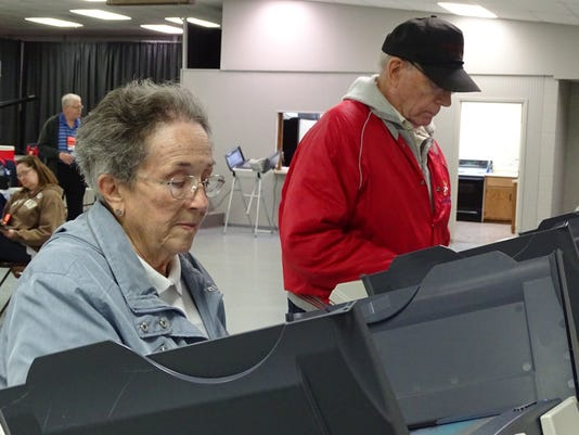 1- Casting their ballots
