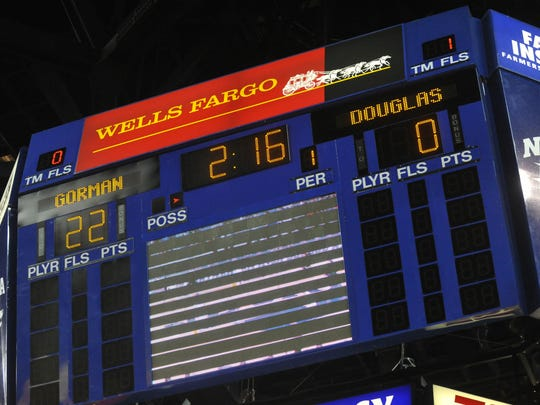 The scoreboard at Lawlor Events Center would be retrofitted with four video walls as part of a planned $3 million improvements on the scoreboards at Lawlor and Mackay Stadium.