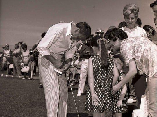 Frank Sinatra at the Chuck Connors Invitational Golf Tournament April 20, 1969.