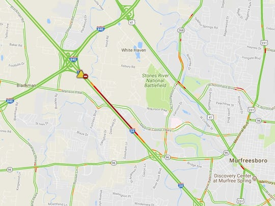 A crash on Interstate 24 has is causing delays near