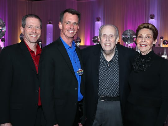 Gala co-chairs Eric Rudolph, Bob Iles, Leo and Cyma Cohen.