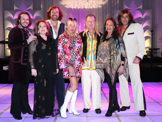 "Evening host Donna Pescow, Sponsors Patti and Jack Grundhofer, 70's ""diva"" Yvonne Elliman with ""The Australian Bee Gees."""