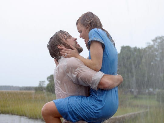 "Ryan Gosling and Rachel McAdams find true love in ""The Notebook."""