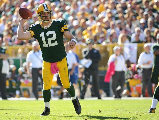 Packers quarterback Aaron Rodgers is looking to bounce