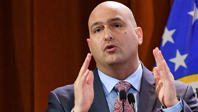 At a board of education meeting on Tuesday, Detroit schools DPSCD Superintendent Nikolai Vitti said the most practical, long-term and safest solution for water quality problems inside the schools is water hydration stations in every school.  (Detroit News, file)