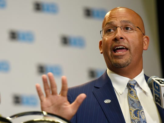 "Penn State head coach James Franklin says seven true freshmen have been given the ""green light"" to see significant playing time this season. AP FILE PHOTO"
