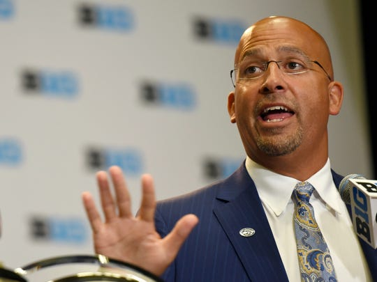 "The transfer epidemic has Penn State head coach James Franklin ""worried about college football."""