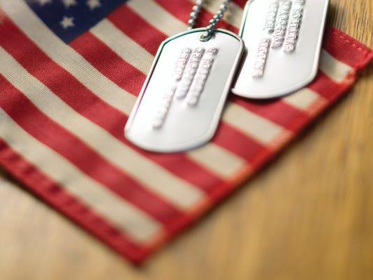 American flag soldier war
