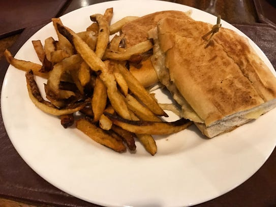 The roasted turkey and brie sandwich ($16) includes