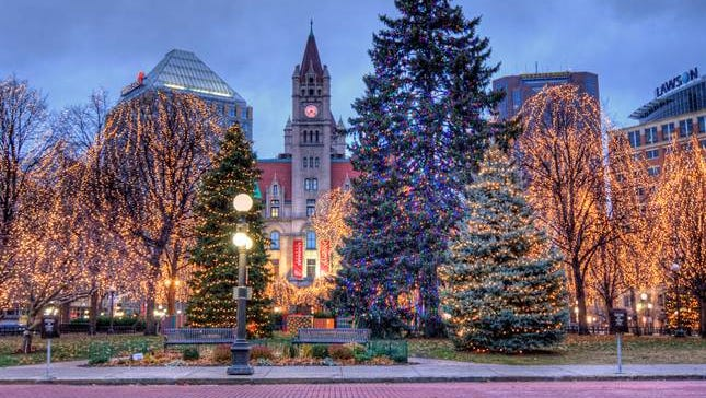 The lights of Rice Park will alleviate the darkest days of the year.