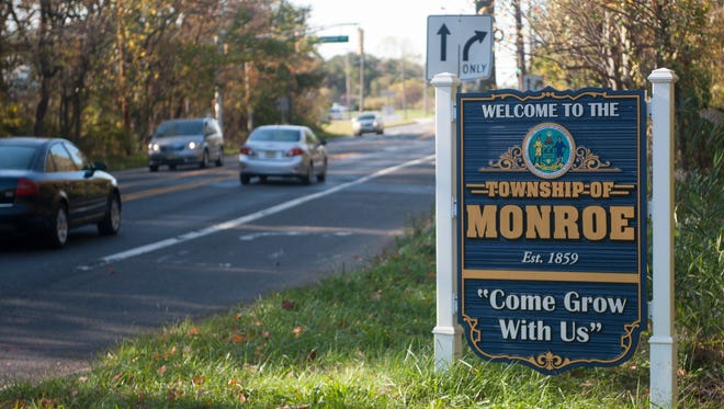 A Monroe Township sign is shown near the black Horse pike. Monroe Township has spent $27,000 to a marketing firm to brand the Williamstown section of town to businesses.