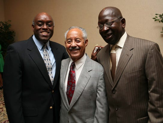 Milton Carter, left, James Crouch, center, and Carl