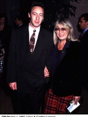 Julian and mom Cynthia Lennon in 1993.
