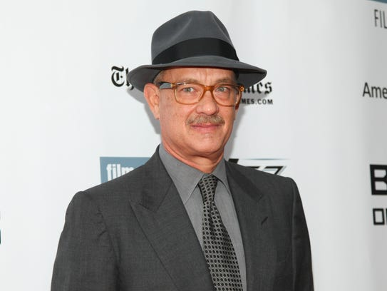 """Tom Hanks attends the New York Film Festival """"Bridge"""