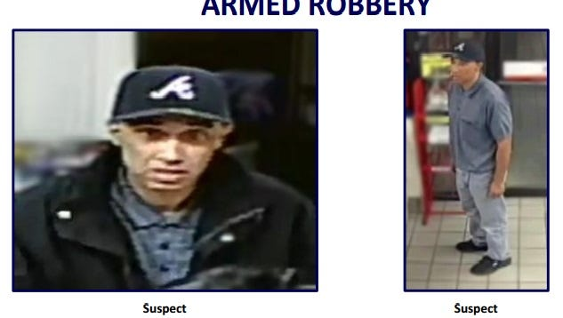 Police released photos of the man they say is a serial robber in the Valley.