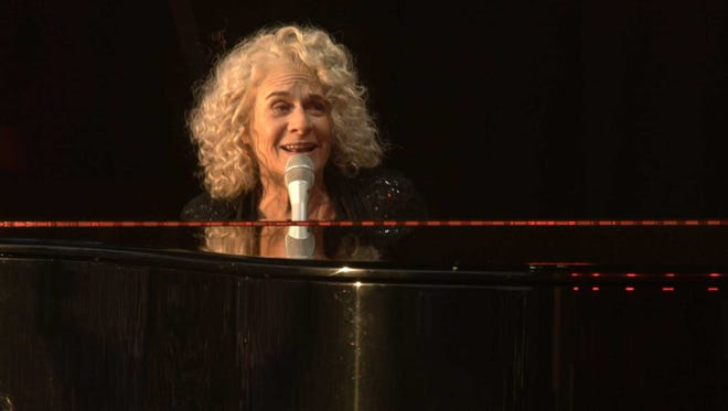 Grammy Award-winning singer-songwriter Carole King performs at London's Hyde Park in 2016.