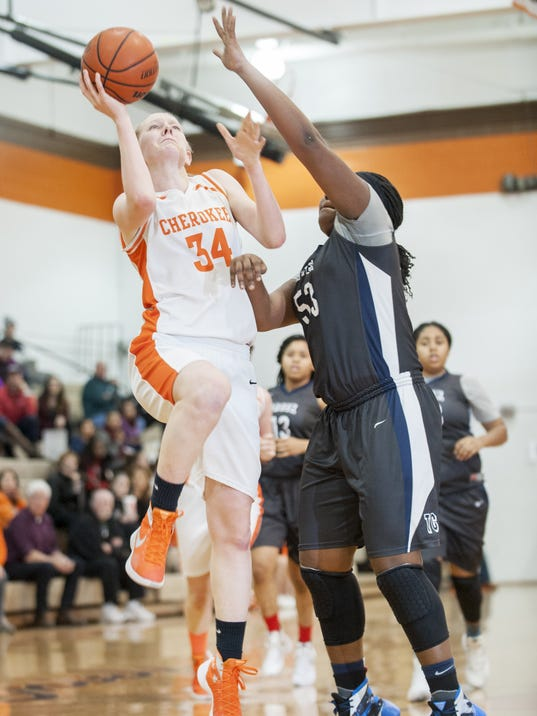 girls basketball cherokees strong start paves   win