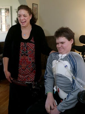Hayden Werdal's mom, Heather, said since her son's diagnosis of acute flaccid myelitis (AFM), she has reached out to others with the disease to try to find a common thread. (LARRY STEAGALL / KITSAP SUN)