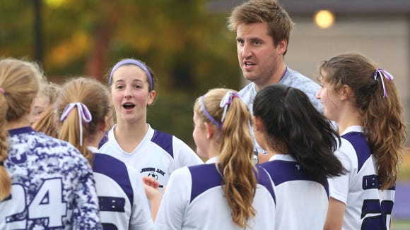 John Jay defeated Brewster 6-0 in a soccer game at John Jay High School in Cross River Oct. 13, 2016.