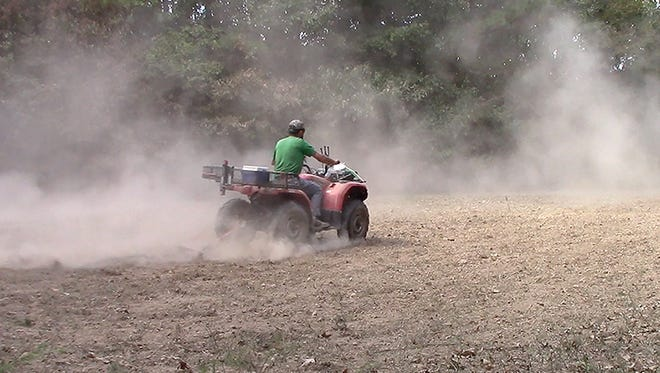 Drought conditions have not been favorable for planting food plots in parts of Mississippi.