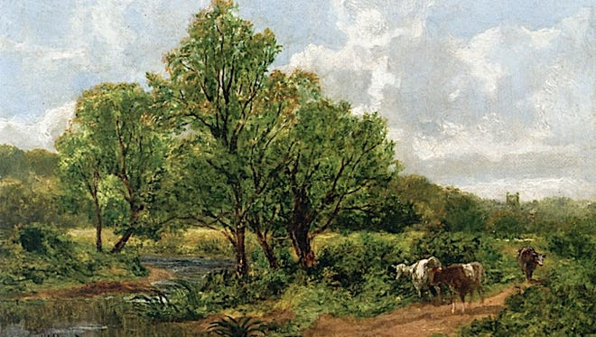 """Summer in Millburn"" by Thomas Worthington Whittridge"