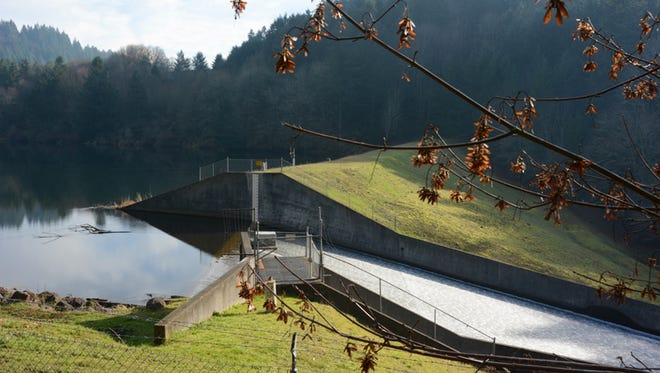 The Silver Creek Dam, built in 1974, is two miles upstream from Silverton.