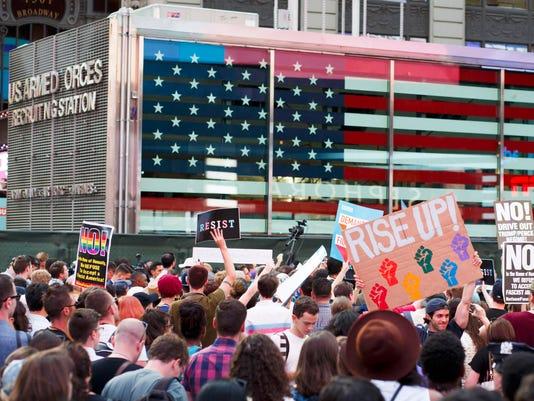 EPA USA TRUMP TRANSGENDER MILTARY BAN POL CITIZENS INITIATIVE & RECALL USA NY