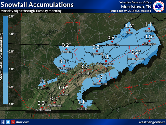 Snowfall expected Monday night and into Tuesday (Jan.