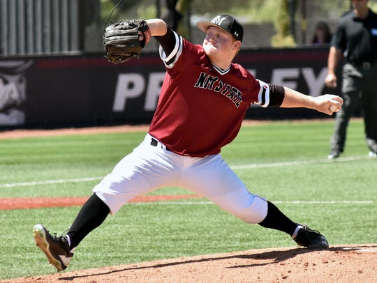 Jonathan Groff and the New Mexico State pitching staff