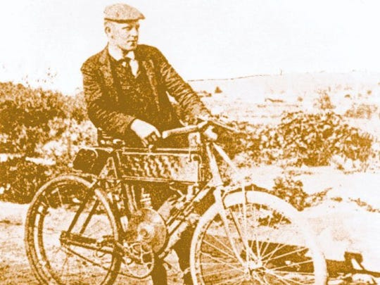 George A. Wyman, the first person to cross the American continent on a motorized vehicle, traveled from San Francisco to New York City in 51 days in 1903.