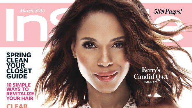 Kerry Washington on 'Instyle' March issue cover.