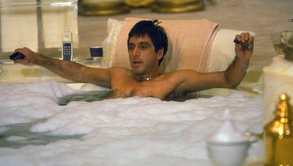 Pacino portrays Tony Montana, a Cuban immigrant turned